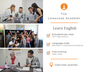 Learn English (The Language Academy) Facebook post