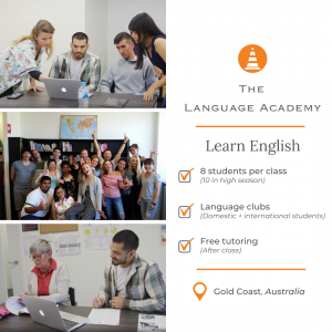 Learn English (The Language Academy) Instagram post